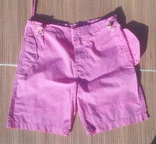 Maharishi Matching Set Outfit Girls Pink Sno shorts + Sleeveless Top Age 10/11