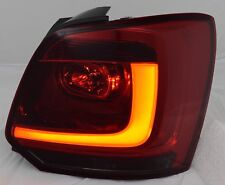LHD Rear Tail Lights Lamps For VW Polo 6R 09+ LED Dark Red Smoked Lightstripes