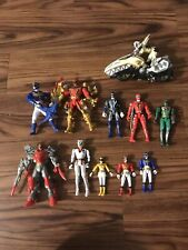 Power Rangers Dino Super Charge Lot Of 11 + bike Loose Figures