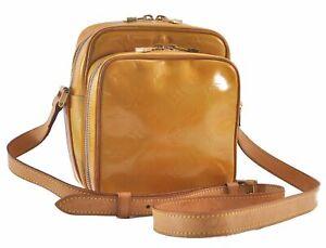 Auth Louis Vuitton Vernis Wooster Shoulder Cross Body Bag Yellow M91075 LV C2365