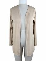 NWT ~ C'est La Vie Cardigan Women's Size Large Beige Tan Ribbed Open Jacket