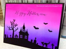 Impression Obsession HALLOWEEN HILL thin metal die, made in USA, haunted house