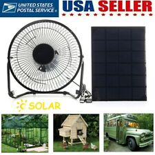 Portable Solar Powered Fan Mini Ventilator Greenhouse Pet Dog Chicken House Cool