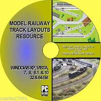 MASSIVE MODEL RAILWAY TRACK LAYOUT COLLECTION MULTI GAUGE OO N TT HO S SO O27 CD