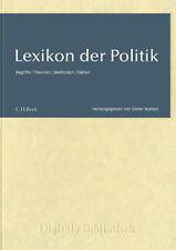 Lexikon le Politique/Conditions Faits De Théories/CD Numérique Bibliothèque