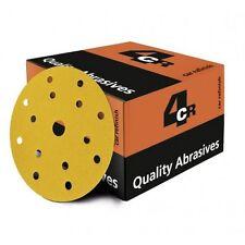 5 Disques abrasifs 15 trous Ø150mm perforé, grain P400, ponceuse (ABR28)