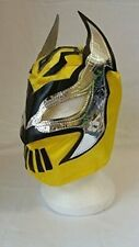 SIN CARA YELLOW WOLVES RAUL JIMENEZ WRESTLING MASK FANCY DRESS UP WWE COSTUME