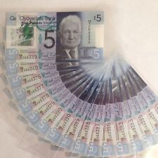 More details for clydesdale bank £5 polymer uncirculated fb1 - 1, 2 or 5 sequential banknotes