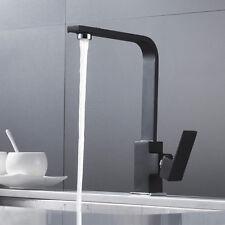 Schwarz Wasserhahn Einhandmischer 360° Spültischarmatur Mischbatterie Lugano Rea