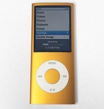 Apple iPod Nano 4th Gen A1285 8GB Orange MB745LL MP3 MP4 Video - TESTED, Working