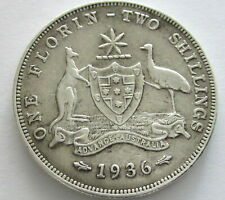 Australia Silver Florin 1936, KM 27, Circulated