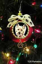Westie Terrier Dog Christmas Ball Ornament Pet  Lovers Gift TJS Furbabies