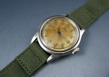 Vintage Omega Stainless Steel WW2 Era Military Doctor Style Mens Watch  17j 1942