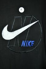 Vintage Nike NWOT Black Embroidered Swoosh Tee Shirt Made in USA sz L