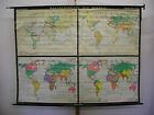 Schulwandkarte Beautiful Old World Map History 83 1/8x63 13/16in Vintage