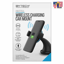 BYTECH Car Mount Qi Wireless Charger Quick Charge Fast Charging Pad Holder Stand