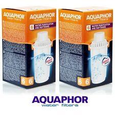 B100-6 AQUAPHOR 2 Replacement Cartridges For Hard Water Areas,Filter Jug Pitcher