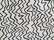 KIRK BRUMMEL Straccato hand print black white zig zag graffiti new remnants