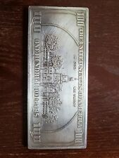 Silver 100 Dollar Bill In Silver Bullion Bars Rounds For Sale Ebay
