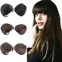 100% Human Hair Thick Neat Bangs Clip in Bangs Front Fringe Hair Piece Extension