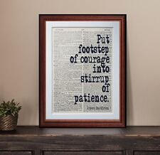 Ernest Shakleton quote dictionary page art print wall poster antique gift