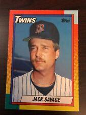 1990 Topps Traded Jack Savage Minnesota Twins 111T