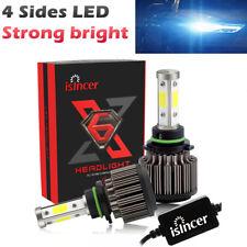 2x HB3 9005 9140 4-Sides LED Headlight Kit Fog Beam Power Bulb 6000K Cree