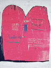 """Jean Michel Basquiat """"Moses and the Egyptians 1982"""" HD print on canvas 36x24"""""""