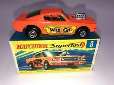 * Matchbox Lesney Superfast #8 Wildcat Dragster Bright Orange Mint In G Box *