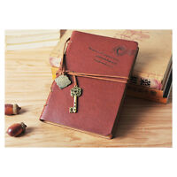 Classic Retro Blank Diary Notebook Vintage String Leather Key Journal Sketchbook