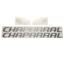 """Chaparral Boats Domed Raised Metallic Silver Decal Set 32""""(Pair)"""