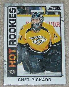 12-13 Score HOT ROOKIES CHET PICKARD rookie #537 ROOKIE RC YG PACK FRESH