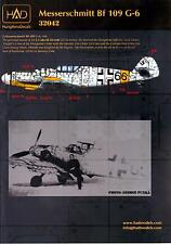 """Hungarian Aero Decals 1/32 MESSERSCHMITT Bf-109G-6 """"66 Erzsike"""""""