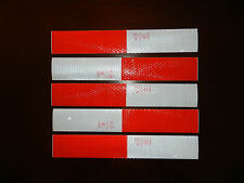 Reflective Tape Decal Sticker Safety Caution RED WHITE Vehicle Trailer ATV SUV