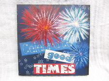 Celebrate Lighted Canvas Wall Decor Sign Patriotic 4th July Fireworks Red Blue