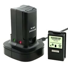 New Rechargeable Dual Battery Pack Charger Dock Station for XBOX 360 Controller