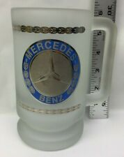 Mercedes Benz Frosted Glass Beer Stein Mug Glass Cup