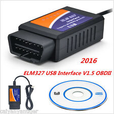 2016 ELM327 USB Interface OBD2 V1.5 Car Scanner Chip Fault Code Diagnostic Tool