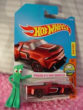 SOLID MUSCLE #292✰Satin Red;red TRAP5✰Digital Circuit✰2017 i Hot Wheels Case N
