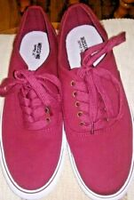 Women's Mossimo Red Canvas Sneakers Shoes Size 7