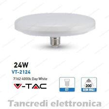 Lampadina led V-TAC 24W = 160W E27 bianco naturale 4000K VT-2124 ufo disco F200