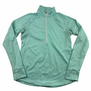 Under Armour Coldgear Fitted 1/2 Zip Long Sleeve Pullover Mint Green Sz Large