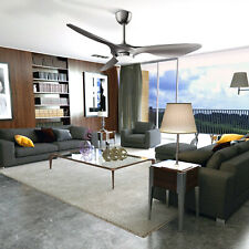52in  Three-Blade Ceiling Fan Remote Control Modern Silver Noiseless With Light
