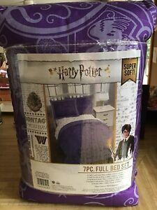 HARRY POTTER Purple 7PC Full Bedding Set + Sheets + Sham**Pillowcases**COMFORTER