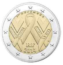 FRANCE 2 euro Commémorative Journée Mondiale Lutte Contre le SIDA 2014 Rouleau
