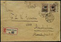 Lithuania/Klaipėda/Memel - Cover (Canceled) 1923 Mi № 177x2,198x10 CV 200-250 €