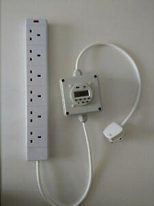 6 Way Grow Light Contactor 13A Hydroponics HID CFL Lighting Relay Digital Timer