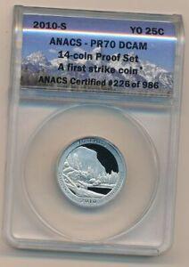 2010-S ANACS PR70 Quarter Deep Cameo First Strike Yosemite!