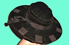 Edwardian Hat C1910 Black Velvet Awesome & Crisp