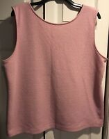Ann Taylor dusty pink textured shell tank Size XL v-neck CAREER soft